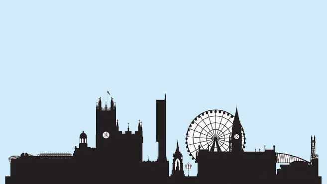 image of Manchester city skyline silhouette