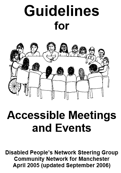 image of Guidelines for Accessible Meetings and Events